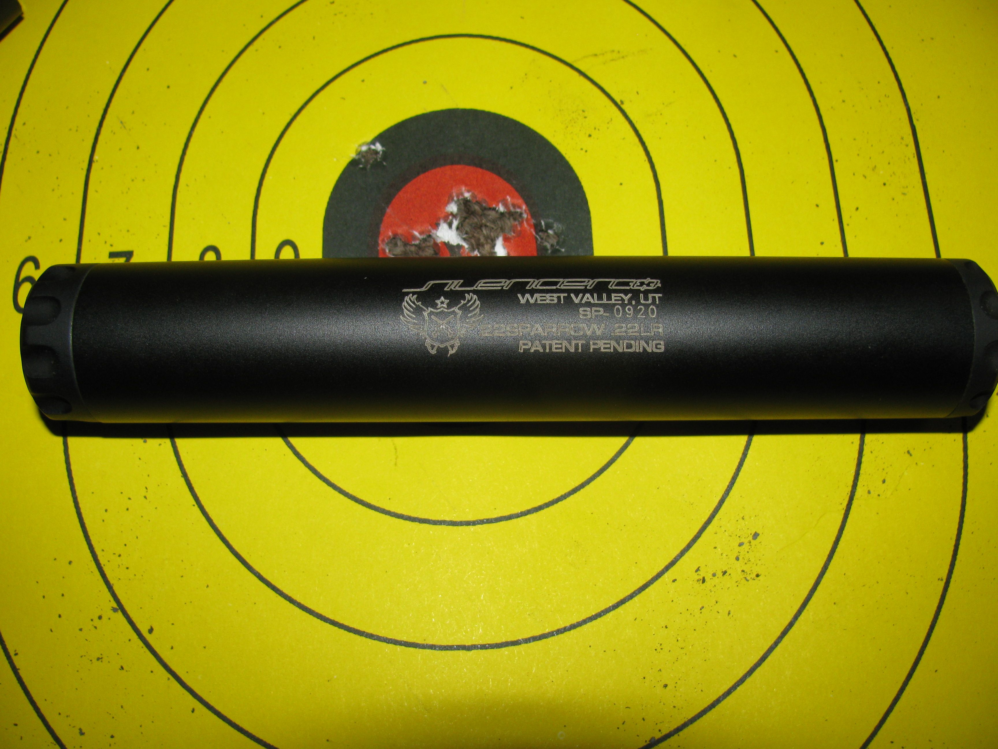 Sparrow 22 suppressor & Ruger 22/45 - Range Report